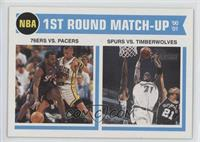 1st Round Match-Up - 76ers vs. Pacers, Spurs vs. Timberwolves