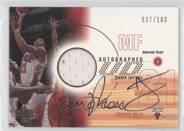 2001-02 Upper Deck - Autographed UD Game Jersey #MA-A - Marcus Fizer /100