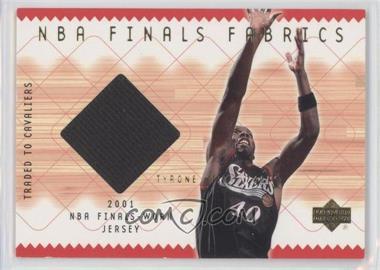 2001-02 Upper Deck - NBA Finals Fabrics #TH-F - Tyrone Hill