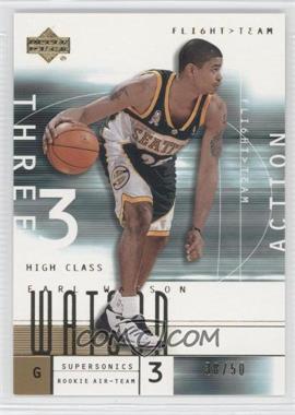 2001-02 Upper Deck Flight Team - [Base] - Gold #111.2 - Earl Watson (Action) /50