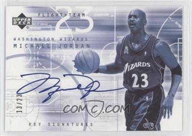 2001-02 Upper Deck Flight Team - Key Signatures - [Autographed] #MJ-S - Michael Jordan /23