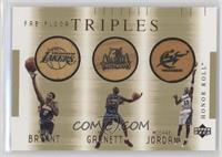 Kobe Bryant, Kevin Garnett, Michael Jordan