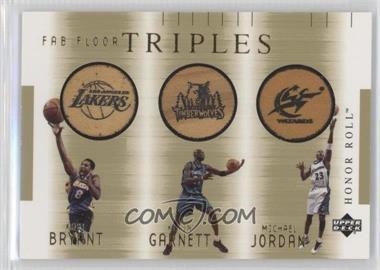 2001-02 Upper Deck Honor Roll - Fab Floor - Triples #KB/KG/MJ - Kobe Bryant, Kevin Garnett, Michael Jordan