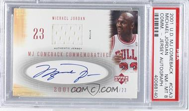 2001-02 Upper Deck MJ'S Back - MJ Comeback Commemorative #CCA3 - Michael Jordan /23 [PSA 8 NM‑MT]