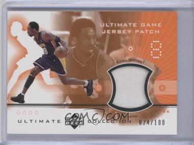 2001-02 Upper Deck Ultimate Collection - Ultimate Game Jersey Patch #KB2P - Kobe Bryant /100
