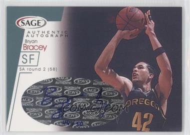 2001 Sage - Autographs - Platinum #A4 - Bryan Bracey /50