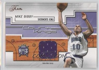 2002-03 Flair - Court Kings - Game Used [Memorabilia] #CK-MB - Mike Bibby