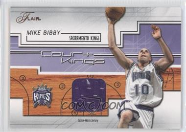 2002-03 Flair - Court Kings - Game Used [Memorabilia] #CK-MB - Mike Bibby