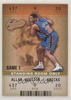 Allan Houston [EX to NM] #/25