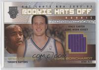 Rookie Hats Off Jersey - Curtis Borchardt, Vince Carter /350