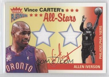2002-03 Fleer Platinum - Vince Carter's All-Stars Game Used - Game-Used #VC-AI - Vince Carter, Allen Iverson /250