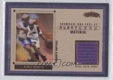 2002-03 Fleer Showcase - Avant Card - Material #N/A - Vince Carter /202