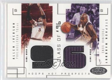 2002-03 Hoops Hot Prospects - Class Of Materials #N/A - Allen Iverson, Stephon Marbury /375