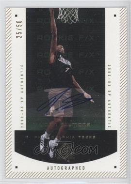2002-03 SP Authentic - [Base] - SP Limited #166 - John Salmons /50