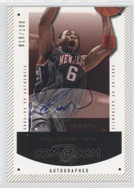 2002-03 SP Authentic - [Base] - SP Limited #54-A - Kenyon Martin /100