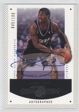 2002-03 SP Authentic - [Base] - SP Limited #97-A - DeShawn Stevenson /100