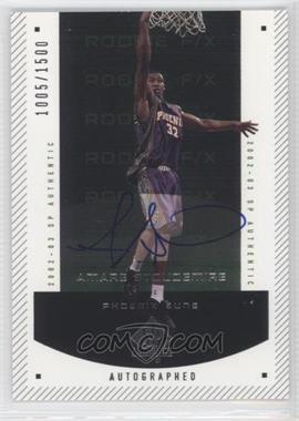2002-03 SP Authentic - [Base] #150 - Autographed Rookie F/X - Amar'e Stoudemire /1500