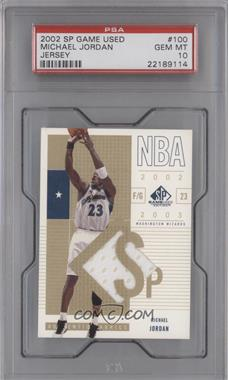 2002-03 SP Game Used Edition - [Base] #100 - Michael Jordan [PSA 10]