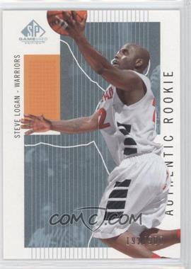 2002-03 SP Game Used Edition - [Base] #123 - Steve Logan /900