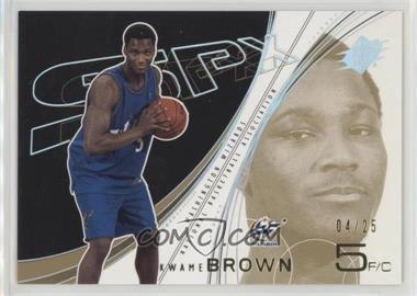 2002-03 SPx - [Base] - Spectrum #90 - Kwame Brown /25