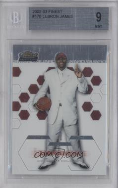 2002-03 Topps Finest - [Base] #178 - Lebron James [BGS9]