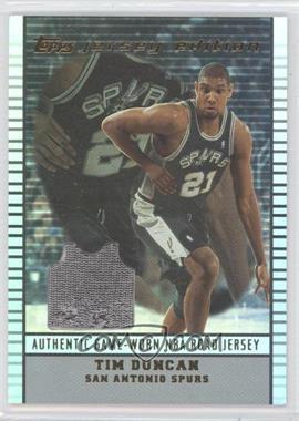 2002-03 Topps Jersey Edition - [Base] #je TD - Tim Duncan