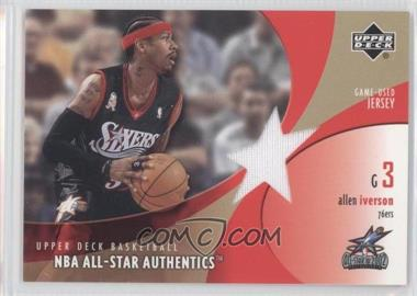 2002-03 Upper Deck - All-Star Authentics - Game-Used Jersey #AI-AJ - Allen Iverson