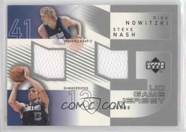 2002-03 Upper Deck - UD Game Jersey Combos #DN/SN - Dirk Nowitzki, Steve Nash