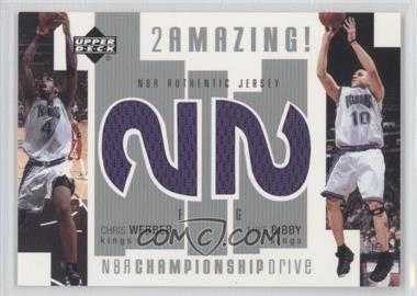 2002-03 Upper Deck Championship Drive - 2 Amazing! Dual Jersey #CW/MB-J - Chris Webber, Mike Bibby