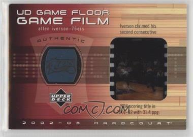 2002-03 Upper Deck Hardcourt - UD Game Floor Game Film #AI-FF - Allen Iverson