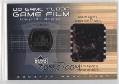 2002-03 Upper Deck Hardcourt - UD Game Floor Game Film #KG-FF - Kevin Garnett