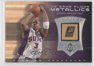 2002-03 Upper Deck Hardcourt - UD Game Floor Metallics #SM-M - Stephon Marbury