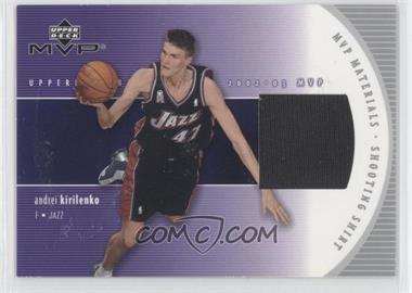 2002-03 Upper Deck MVP - MVP Materials - Shooting Shirt #AK-S - Andrei Kirilenko