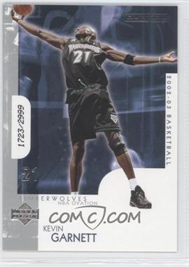 2002-03 Upper Deck Ovation - [Base] #93 - Kevin Garnett /2999