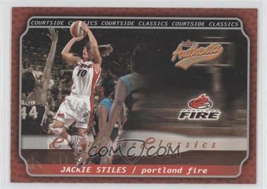 2002 Fleer Authentix WNBA - Courtside Classics #1 CC - Jackie Stiles