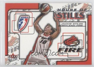 2002 Fleer Ultra WNBA - House Of Stiles #3HS - Jackie Stiles