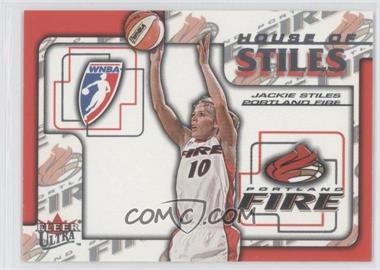 2002 Fleer Ultra WNBA - House Of Stiles #4HS - Jackie Stiles