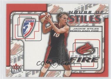 2002 Fleer Ultra WNBA - House Of Stiles #5HS - Jackie Stiles