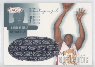 2002 Sage - Authentic Autograph - Platinum #A8 - Ousmane Cisse