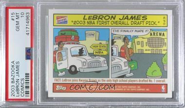 2003-04 Bazooka - Comic Strip #15 - Lebron James [PSA10GEMMT]