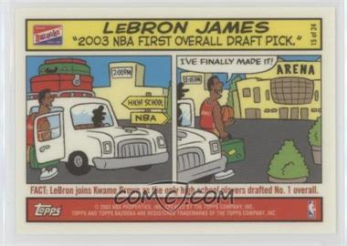 2003-04 Bazooka - Comic Strip #15 - Lebron James