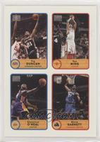 Tim Duncan, Yao Ming, Shaquille O'Neal, Kevin Garnett