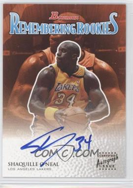 2003-04 Bowman - Remembering Rookies Certified Autograph - [Autographed] #RR-SO - Shaquille O'Neal