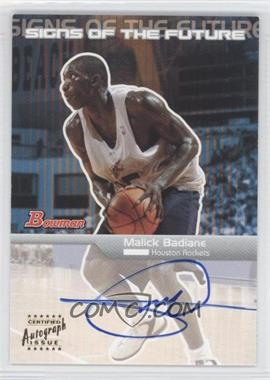 2003-04 Bowman - Signs of the Future - [Autographed] #SFA-MBA - Malick Badiane