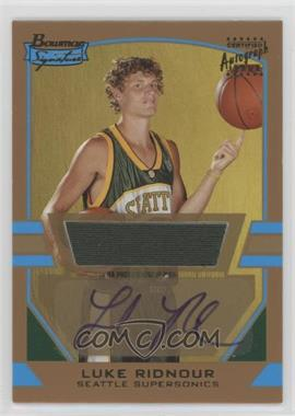 2003-04 Bowman Signature - [Base] - Gold #85 - Luke Ridnour /99