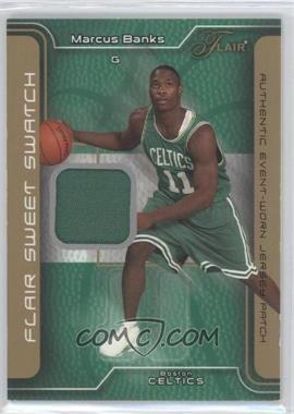 2003-04 Flair - Sweet Swatch - Game Jersey Patch #SSP-MB - Marcus Banks /50
