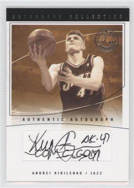 2003-04 Flair Final Edition - Autograph Collection - Platinum [Autographed] #AC-AK - Andrei Kirilenko /10