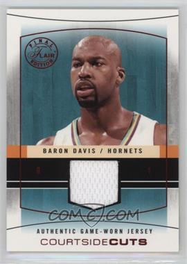 2003-04 Flair Final Edition - Courtside Cuts Jerseys - Red #CC-BD - Baron Davis /175