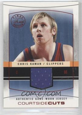 2003-04 Flair Final Edition - Courtside Cuts Jerseys - Red #CC-CK - Chris Kaman /175
