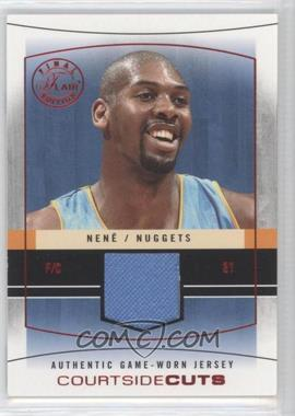2003-04 Flair Final Edition - Courtside Cuts Jerseys - Red #CC-N - Nene /175